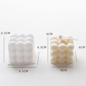 1PC Silikon Gießformen Motivbackformen Kerzengießform Kerzenform für Bubble Würfel Kerze Cube Candle Backform Type : A