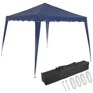 Pavillon 3x3m UV-Schutz 50+ wasserdicht faltbar inkl. Tasche Faltpavillon Capri Partyzelt Gartenpavillon Pop Up Zelt, Farbe:blau