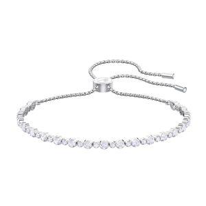 Swarovski 5465384 Subtle Armband, weiss, rhodiniert