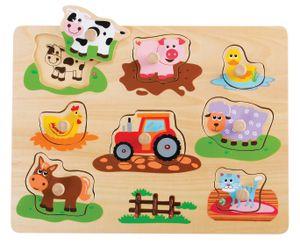 Sky-blue 20064 Holzpuzzle / Legepuzzle zum Thema Bauernhof