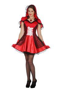Damen Kostüm sexy Rotkäppchen Karneval Fasching Gr.42