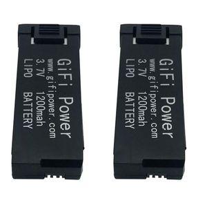2 PACK 3.7V 1200mAh LiPo Batteries for Eachine E58 Drone