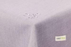 Tischdecke Leinenoptik Lotuseffekt abwaschbar 130x130 eckig in silber hellgrau