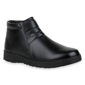 Mytrendshoe Herren Stiefeletten Winter Boots Warm Gefütterte Winterschuhe 832469, Farbe: Schwarz, Größe: 41