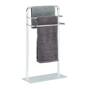 relaxdays Handtuchhalter Milchglas/Chrom