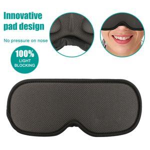 3D Schlafmasken Augenmaske Schwarz Schwamm Schlafbrille Reisebrille 100%Blackout