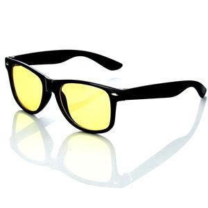 Nachtfahrbrille im Retro-Look   Nachtsichtbrille  Nachtbrille Sonnenbrille Kontrast Brille   Auto Motorrad   Schutz