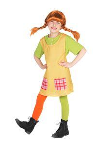 Pippi Langstrumpf Kinderkostüm Lizenzware bunt