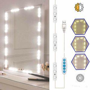 LED Spiegelleuchte Make-up Licht Spiegellampe Schminklicht Schminkleuchte Tageslichtlampe LED-Lichtleiste Schrankleuchte