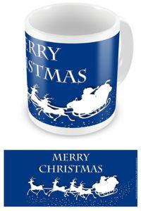 Weihnachten - Merry Christmas - Schlitten - Keramik Tasse - Größe Ø8,5 H9,5 cm