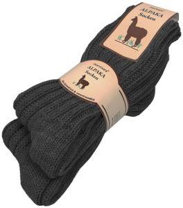 2 Paar Alpaka-Socken - Anthrazit - 39-42
