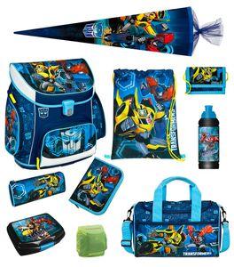 Transformers Schulranzen Set 10tlg Scooli Campus Sporttasche Schultüte 85cm blau TFJK8252