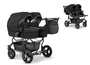 Zwillingskinderwagen Duet Lux 2 in 1 (D-01) – Kinderwagen, Sportsitz und Zubehör