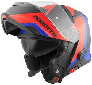 Bogotto V271 BT Zabu Bluetooth Klapphelm Farbe: Schwarz/Rot/Blau, Grösse: XS