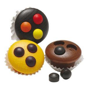 Erzi Muffins, Spielzeug-Muffins, Holz-Muffins, Kaufladenzubehör
