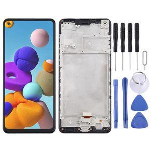 Für Samsung Galaxy A21s A217F Display Full LCD mit Rahmen Einheit Touch Ersatzteil Reparatur Schwarz