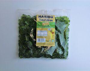 Haribo Goldbären Apfel (1kg Beutel Gummibärchen grün) sortenrein