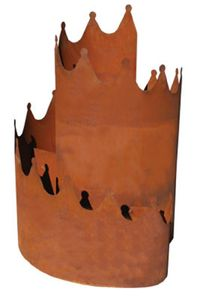 Edelrost Kräuterspirale Eisen Naturrost Pflanzspirale Kräuterschnecke Ø 60cm, H 87cm, Bodenbereich offen