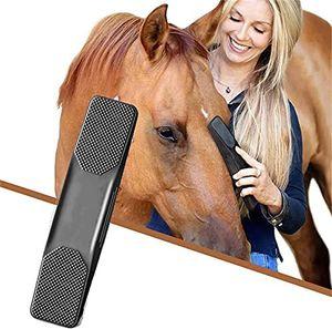Rosshaar-Kardätsche Massagebürste, 6 in 1 Silikon Fellpflegebürste für Hunde, Katzen, Pferde zum Ausbürsten von Losem Haar, Staub & Schmut