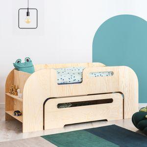 Selsey Kinderbett BEEMIM - Juniorbett Kieferfarben mit Rausfallschutz und Schubladenkasten, 70x140 cm