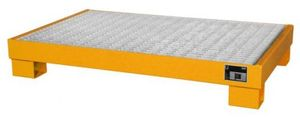 Bauer GmbH Auffangwanne lackiert mit Gitterrost AW 60-3/M, lackiert orange RAL 2000