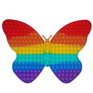Übergroßer Schmetterling Regenbogen Push Pops es Bubble Sensory Fidget Toy, Stressabbau Special,42X30cm,234 Blasen
