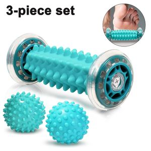 Fußmassagegerät Fußmassage Roller [3er Set]-Muskel Roller & Bälle Set, Innovativer Fußmassageroller Fuß Igelball zur Linderung von Muskelkater
