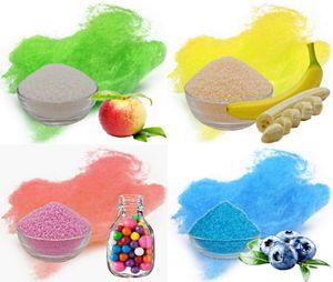 Aromazucker für bunte Zuckerwatte 4x250g Set mit Geschmack | Apfel - Banane - Bubble Gum - Heidelbeere | Farbaromazucker und Dekorzucker für Zuckerwattemachinen