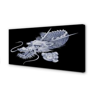 Leinwandbild 120x60 Wandkunst Japanischer Drachenkopf