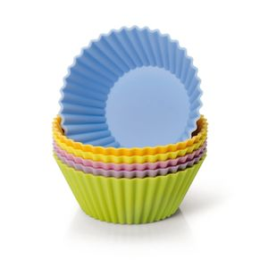 Original Kaiser Silikon-Muffinform-Set 6 Stück farbig Creativ