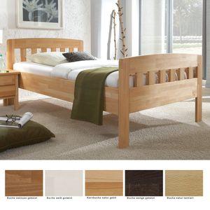 Seniorenbett Siders Comfort Buche Holzbett Farbe und Größe nach Wahl, Liegefläche:120 x 200 cm, Holzart:Buche natur lackiert