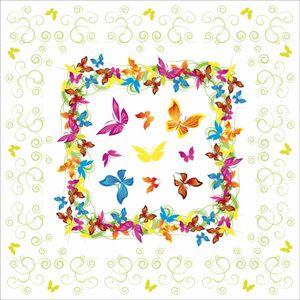 Sovie HOME Tischdecke Papillon aus Linclass® Airlaid 80 x 80 cm, 1 Stück - Einweg Mitteldecke Schmetterlinge