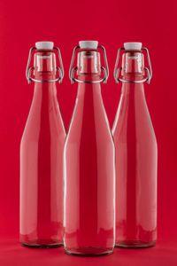BUEGEL-750 6x Glasflasche Bügelflasche 0,75Liter 750ml Wein-Flasche Bügelverschluss
