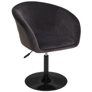 Duhome Clubsessel Lounge Sessel in schwarz Sessel Cocktailsessel Stoff Samt
