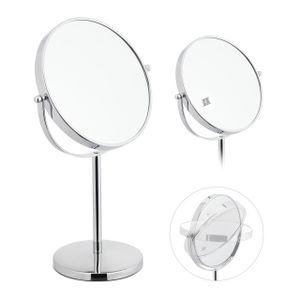 relaxdays Kosmetikspiegel mit 10-fach Vergrößerung