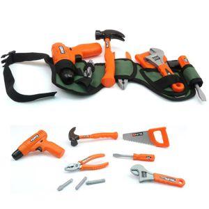 Cayee Powerrrr Power Kinder Werkzeuggürtel Set 10tlg Akkuschrauber Hammer Säge