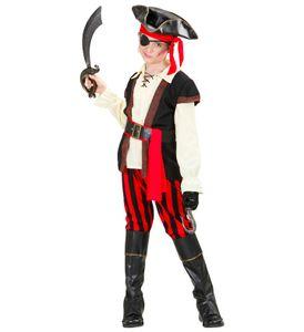 Kinder Verkleidung Abenteuer Pirat  -  Seeräuber Junge komplett Piratenkostüm S - 128 cm