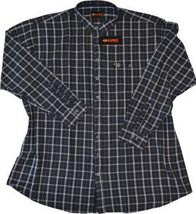 Übergrößen Flanell-Hemd KAMRO Schwarz/Grau 6XL