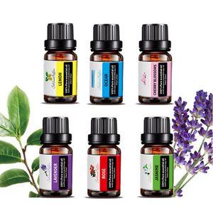 Ätherische Öle Geschenkset,Ätherische Öle für Diffuser,Pure Duftöle,Hochwertigster Parfümöl,Massageöle,6x 10 ml