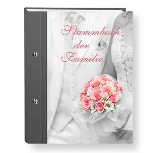 Stammbuch der Familie Wedding grau A5 personalisierte Stammbücher Vintage Hochzeit  Stammbaum Trauung Hochzeit