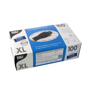 100 Handschuhe, Latex puderfrei schwarz Größe XL