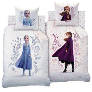 Disney Frozen 2 Anna Elsa Mädchen Wende Bettwäsche Set Flowers