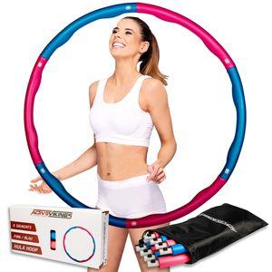 ActiveVikings Hula Hoop Reifen Ideal für Fitness, Gewichtsreduktion und Massage, 6-8 Segmente Abnehmbar - für Erwachsene & Kinder