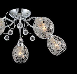 Globo Lighting KORDULA Deckenleuchte Chrom, 5xE14, 56689-5