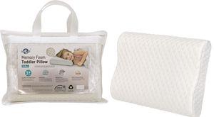 HelpAccess® Kinderkissen aus Memory Schaum & hautfreundlich mit einem herausnehmbaren & waschbaren Kissenbezug.(Weiß)