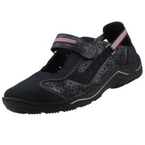Rieker Damen Slipper Blau, Schuhgröße:EUR 38