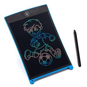 digitCUBE LCD Schreibtafel - Writing Tablet bunt digital Pad - Magic Board löschbar für Kinder - Malen Geschenk Blau