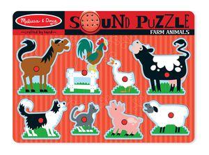 Melissa & Doug Formpuzzle mit gesunden Nutztieren 8 Stück