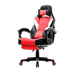 IntimaTe WM Heart - Racing Stuhl mit hoher Rückenlehne, Ergonomischer Gamingstuhl, Bürostuhl aus Kunstleder - Rot