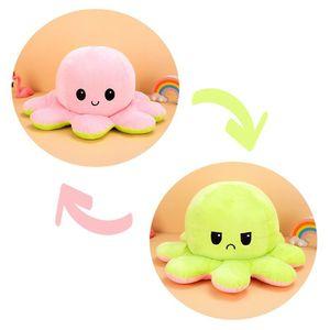 (Stil H - 50cm) Kuscheltiere, Niedliche Oktopus-Plüsch-Spielzeug, Doppelseitig Flip Oktopus-Stofftierpuppe, Kreative Spielzeuggeschenke für Kinder / Mädchen / Jungen / Liebhaber